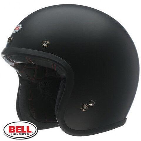BELL CUSTOM 500 LOW PROFILE OPEN FACE VINTAGE MOTORCYCLE HELMET FREE CARRY BAG