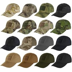 Condor TC Tactical Operator Military Adjustable Cap w/ 3 Hook and Loop Panels