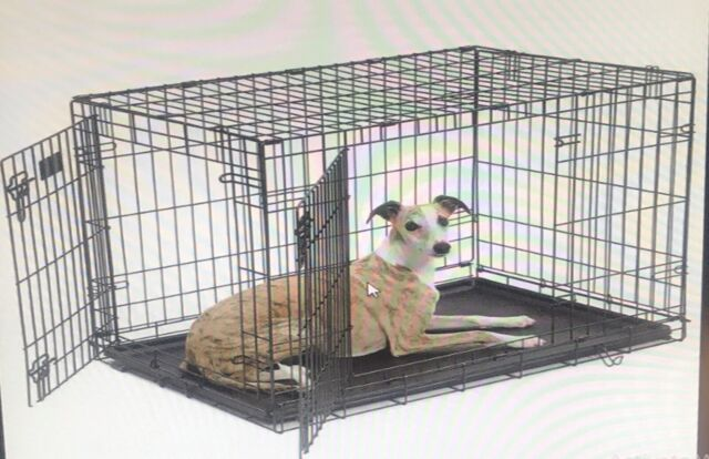 iCrate Folding Metal Dog Crate Double Door 36-Inch w/Divider PEN/CAGE FREE SHIP