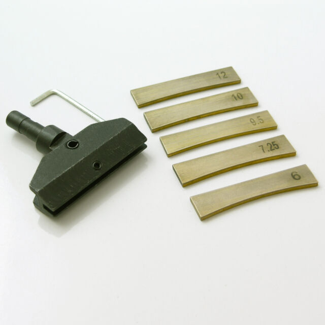 Guitar fret wire fret press caul, 5 x fret press inserts  TO32 TO33
