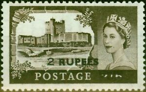 B.P.A. in Eastern Arabia 1961 2R on 2s6d Black-Brown SG92 Fine Lightly Mtd Mint