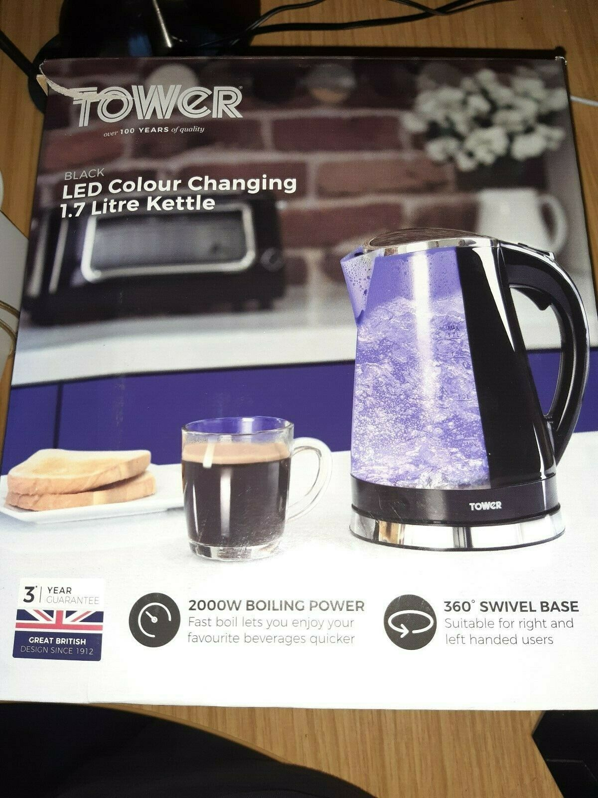 Tower T10012 Colour Changing LED Jug