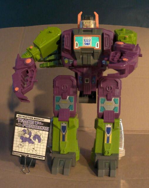 Transformers vintage 1987 Scorponok complete w/ instructions. Unused.