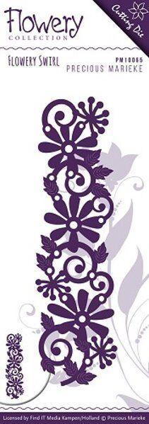 Flowery - Swirl - Stanzschablone von Precious Marieke (PM10065)