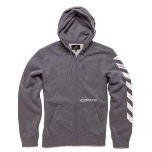 Grey Alpinestars Echte Through Zip Fleece debrief hoodie colour Medium size w81q1dgZnR