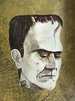 Frankenstein Monster Head Halloween Paper Wall Window Decoration