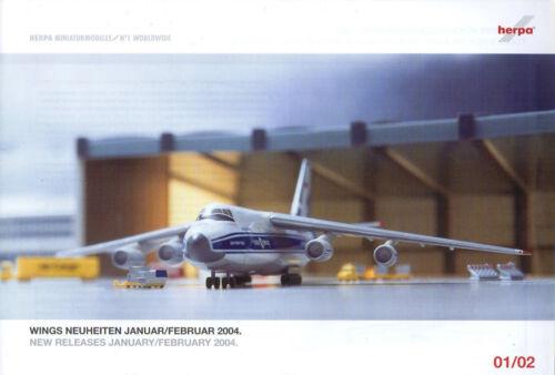 Herpa Wings novedades enero//febrero/' 2004-lufthansa-edelweiss-Pan Am-nuevo
