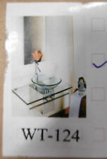 Designer Waschbecken Waschtisch Edelstahl WT-124 Glas Glaswaschschale Klarglas