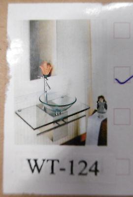 Designer Waschbecken Waschtisch Edelstahl Wt-124 Glas Glaswaschschale Klarglas Festsetzung Der Preise Nach ProduktqualitäT Waschtisch Waschtische & -becken