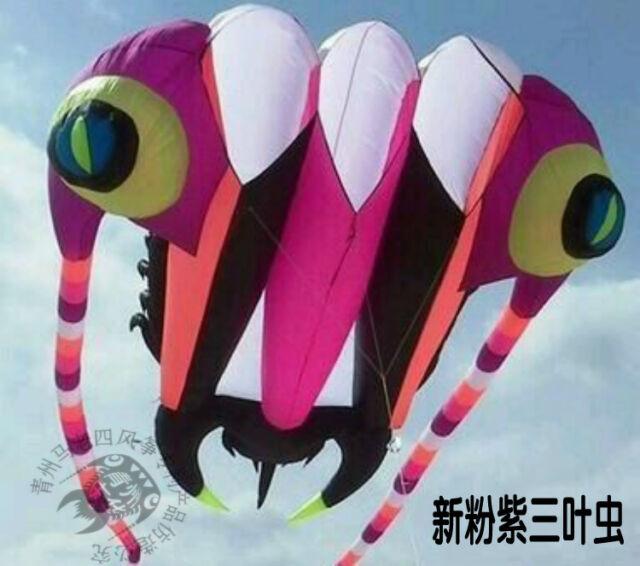 Huge 3D 16 square 1 Line Stunt Parafoil Trilobites POWER Sport Kite outdoor toy