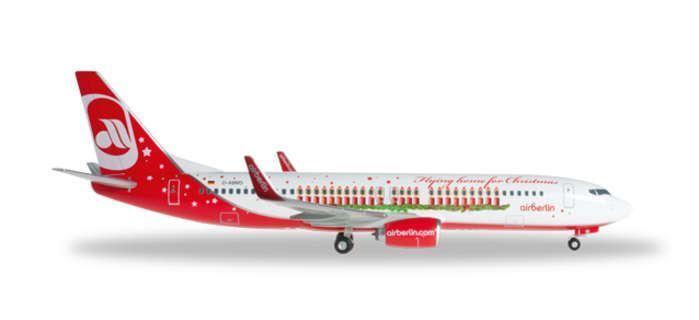 HE55681 Herpa vinges Air Berlin 737 -800 1 200 flygagagande Julmodellllerl flygagagplan