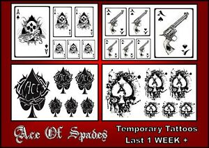 6d693d56c Image is loading ACE-OF-SPADES-black-X6-TATTOOS-temporary-waterproof-