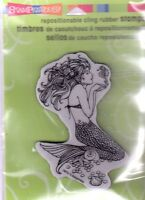Stampendous Rubber Stamp Cling Mermaid Mystical Sea Free Us Ship