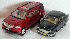 TOY & MODEL OF  FORTUNER (RED)- & AMBASSADOR CAR(BLACK)- CENTY-KIDSTOYSHUB