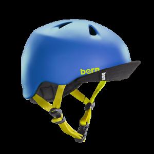 Bern-Nino-Matte-Blue-Flip-Visiere-Velo-BMX-Skate-Casque-Jeunesse-Junior-Taille-XS-S
