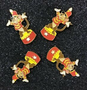 Four-Timothy-Mouse-Disney-Pins-From-The-Dumbo-Commemorative-Pin-Set