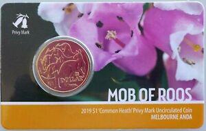 Australia 2019 Melbourne ANDA Show Common Heath Privy Mark $1 UNC Coin Carded