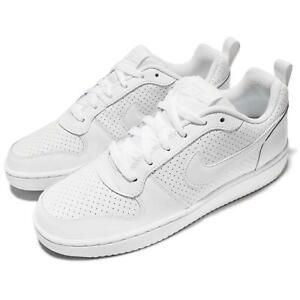 Details about NIKE COURT BOROUGH LOW SNEAKERS WOMEN SHOES TRIPLE WHITE 844905 110 SIZE 11 NEW