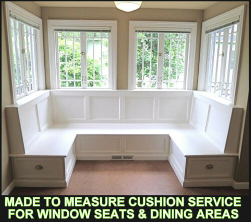 MADE TO MEASURE CUSHION SERVICE WINDOW SEATS /& DINING AREAS /& GARDEN FURNITURE