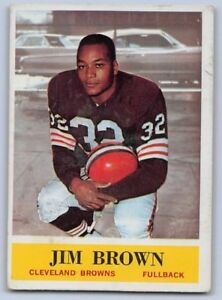 Jim Brown Football >> Details About 1964 Jim Brown Philadelphia Football Card 30 Cleveland Browns
