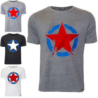 Da Uomo Di Marca Manica Corta Stella Stampata Casual Girocollo Tee T Shirt Top-mostra Il Titolo Originale