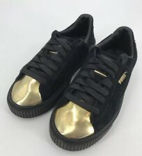 e041be0835b item 3 PUMA Black Suede Platform Creeper Sneakers Gold Toe Cap Women s Size  8.5 -PUMA Black Suede Platform Creeper Sneakers Gold Toe Cap Women s Size  8.5