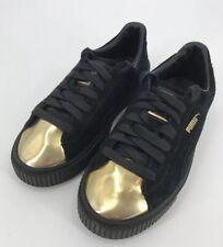 de93da0b804fd7 item 3 PUMA Black Suede Platform Creeper Sneakers Gold Toe Cap Women s Size  8.5 -PUMA Black Suede Platform Creeper Sneakers Gold Toe Cap Women s Size  8.5