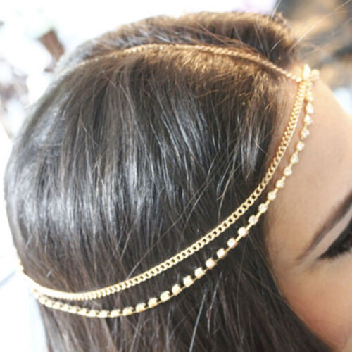 NEW Bohemian Silver//Gold Head Chain Jewelry Forehead Headband Piece Hair Gift