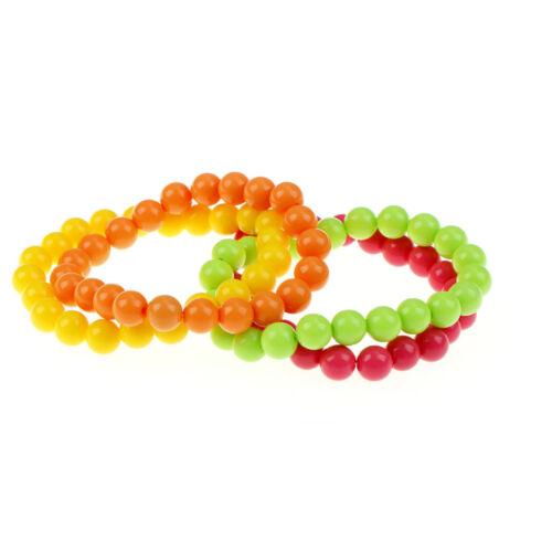 Neon Bead Bracelets Necklace 70/'s /& 80/'s Party Woman Bachelorette Party Decor+q