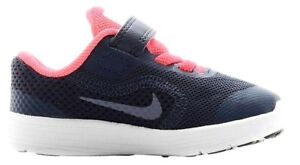 ca724760be Nike Revolution 3 Infant Kids UK 3.5 EU 19.5 Navy Blue Pink Touch ...