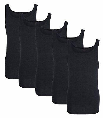 4x Herren Unterhemden 100/% Baumwolle FEINRIPP weiß Singlet Tank Top Trägerhem