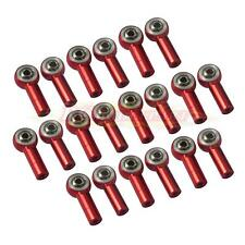 20pcs Aluminum M3 Link Rod End Ball Joint CW CCW for 1/10 RC Car Crawler Buggy Red
