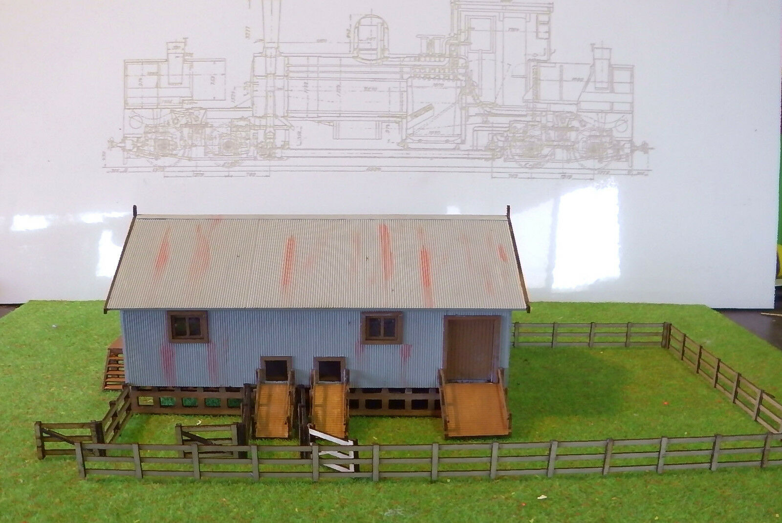 SHEARING SHED Wangaratta 117x60x55mm N 1/160 scale Laser cut Wood kit