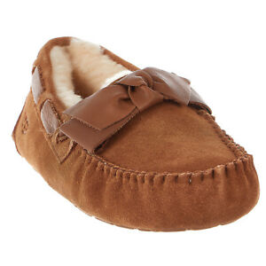 8afe68ff0ac Details about UGG Australia Dakota Leather Bow Slipper - Womens