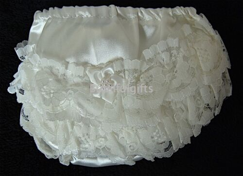 Pex Abigail Baby Girls Satin Lace Frilly Pants//Knickers 0-24 Mth 1 Supplied