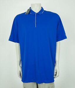 New-Nike-Golf-Dri-Fit-Blue-Tech-Tipped-Golf-Polo-Shirt-Mens-2XL-XXL