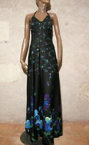 Kleid 38 1970 Nu True Abito 70s Dress Robe Dos Longue Vintage Maxi Chic Vtg FgqUBB