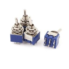 4 Pcs Ac 6a 125v 2 Position 6pins Dpdt On Off Micro Mini Toggle Switch