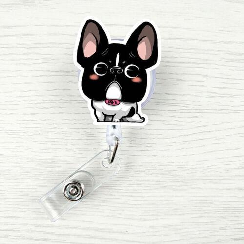 Cute Animal Cartoon Badge Reel Exhibition ID Name Card Holder Belt Clip Nurse