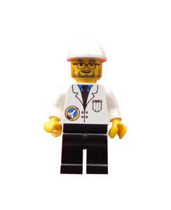 Lego-Mann-Space-Port-Wissenschaftler-Forscher-Minifigur-City-spp011-Neu
