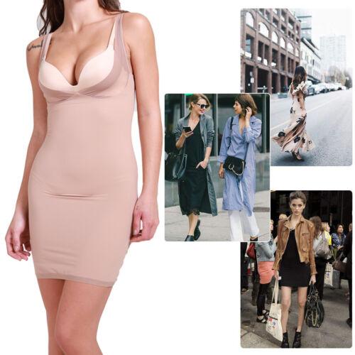 UK Seamless Slimming Shapewear Tummy Control Full Slip Body Shaper Girdle Dress