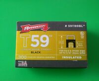 Arrow 591189bl 5/16 (8mm) Insulated Staples 300 Pack Black