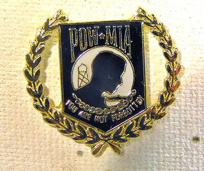 Military POW MIA You Are Not Forgotten Badge Tie PIN Hat Lapel PINBACK