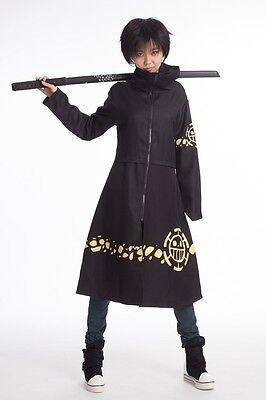 New One Piece Anime Trafalgar Law Coat 2nd Cloak Cosplay  Costume 5 Size