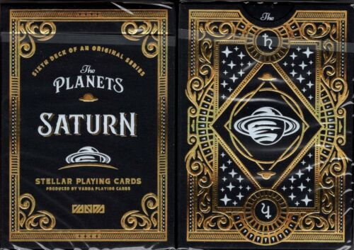 The Planets Saturn Playing Cards Poker Size Deck USPCC Custom Standard Edition