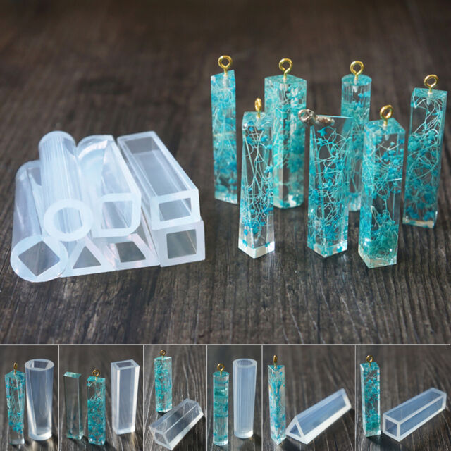 DIY Silicone Gem Beads Moulds Mold Resin Jewellery Making Pendant Jewelry Shapes