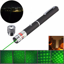 NEW 532nm 2in1 Green Laser Pointer Pen Beam Light Star Cap Visible Projector NEW