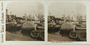 Italia Napoli Vista Nel Il Port, Foto Stereo Vintage Analogica 61n73