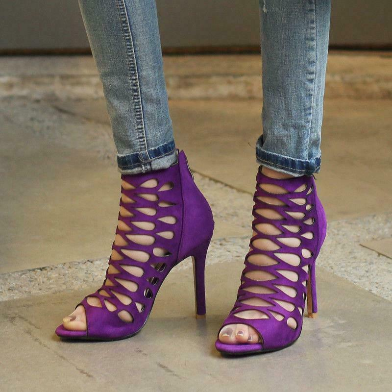 Roman Gladiator Sandals High Heels Stilettos Big Size Party Women Pumps shoes