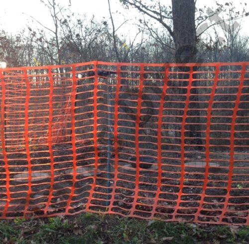 Orange Safety Snow Construction Field Barrier Garden Farm Fence 4/' x 100/'
